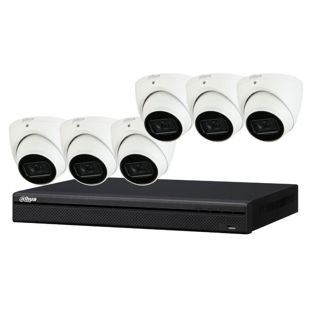 Dahua 8-Channel Security Kit: 8MP (Ultra HD) NVR, 6 x 8MP Fixed Turret, Lite + Starlight
