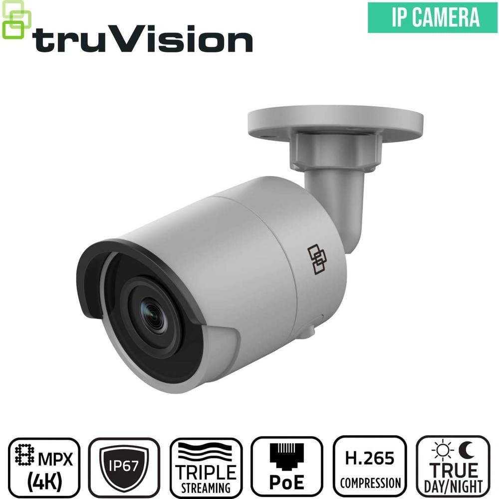 TruVision Security Camera: 8MP (4K) Ultra HD Bullet with IP67