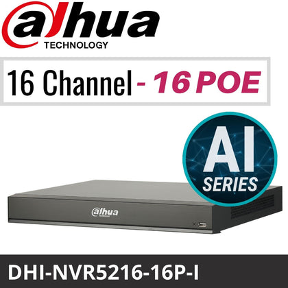 Dahua DHI-NVR5216-16P-I 16 Channel Network Video Recorder: 16MP, AI Series