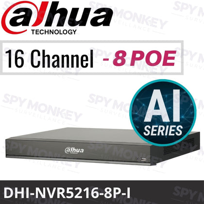 Dahua DHI-NVR5216-8P-I 16 Channel Network Video Recorder: 16MP, AI Series