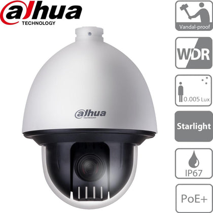Dahua SD60230U-HNI Security Camera: 2MP Starlight PTZ, 30X Zoom, IK10