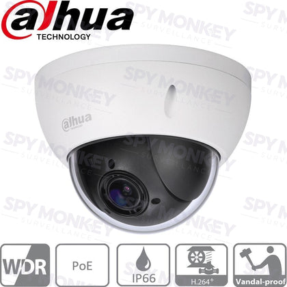 Dahua SD22204T-GN Security Camera: 2MP PTZ, 4X Zoom, IK10