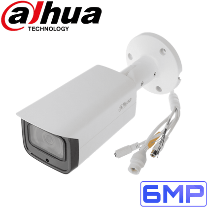 Dahua IPC-HFW4631T-ASE Security Camera: 6MP Fixed Lens Mini-Bullet, IR 80m