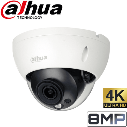 Dahua IPC-HDBW1831R Security Camera: 8MP(4K) Ultra HD Dome, 2.8mm