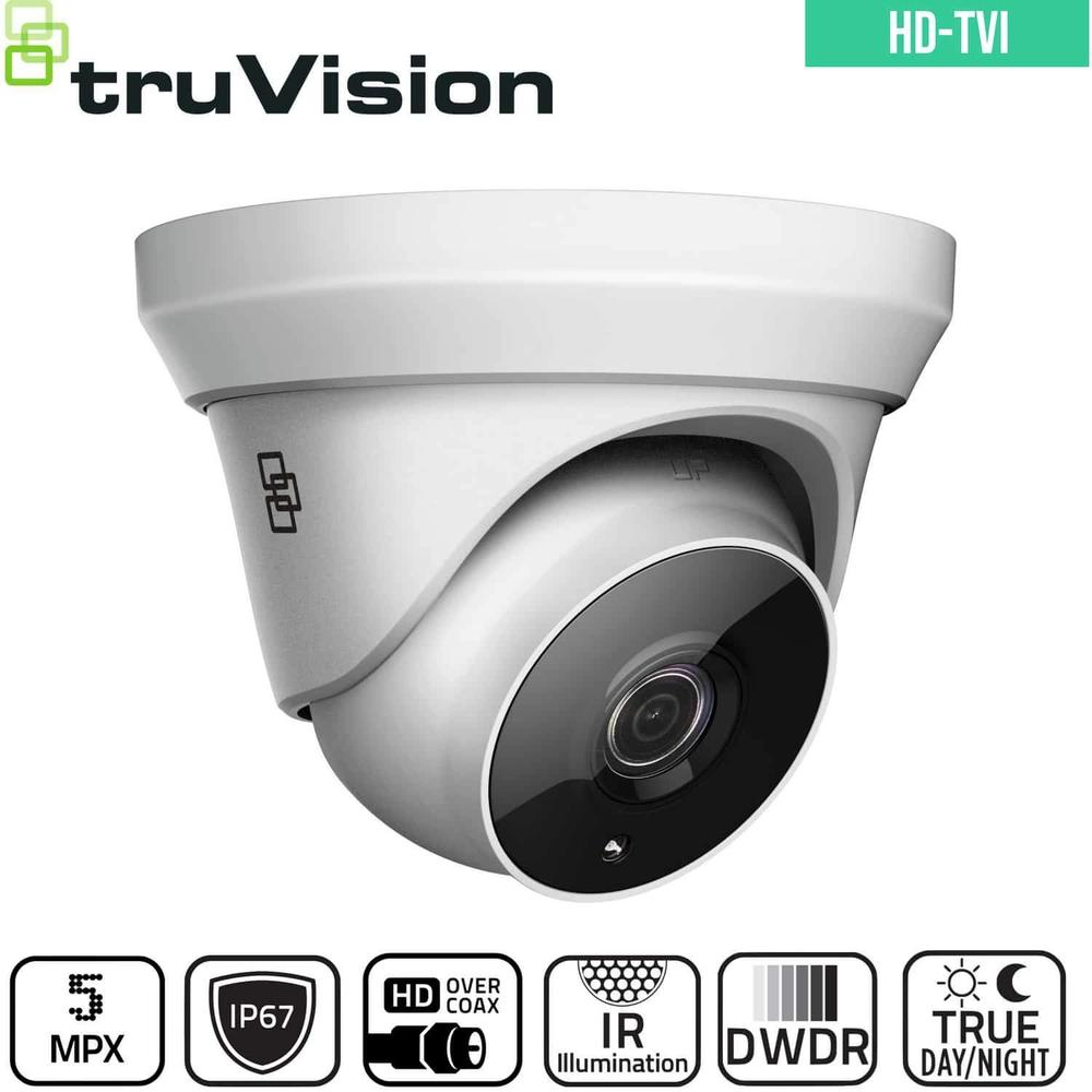 TruVision Analogue Security Camera: 5MP HD-TVI Turret