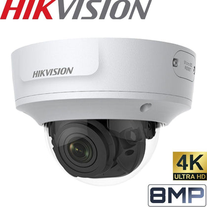 HIKVISION DS-2CD2785G1-IZS Security Camera: 8MP VF Dome, 2.8-12mm, IK10