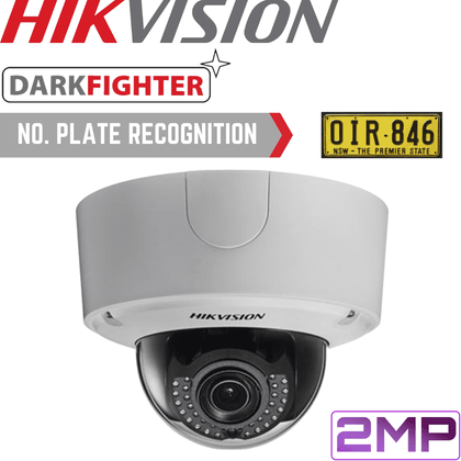 Hikvision DS-2CD4526FWDIZ/P Security Camera: 2MP ANPR Motorised VF Dome 2.8-12mm