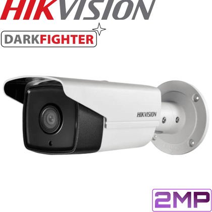 Hikvision DS-2CD4A26FWD-IZ Darkfighter Security Camera: 2MP Motorised VF Bullet 2.8-12mm