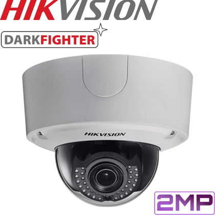 Hikvision DS-2CD4526FWD-IZ Darkfighter Security Camera: 2MP Motorised VF Dome 2.8-12mm
