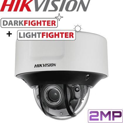 Hikvision DS-2CD5526G0-IZS Darkfighter Security Camera: 2MP Motorised VF Dome 2.8-12mm