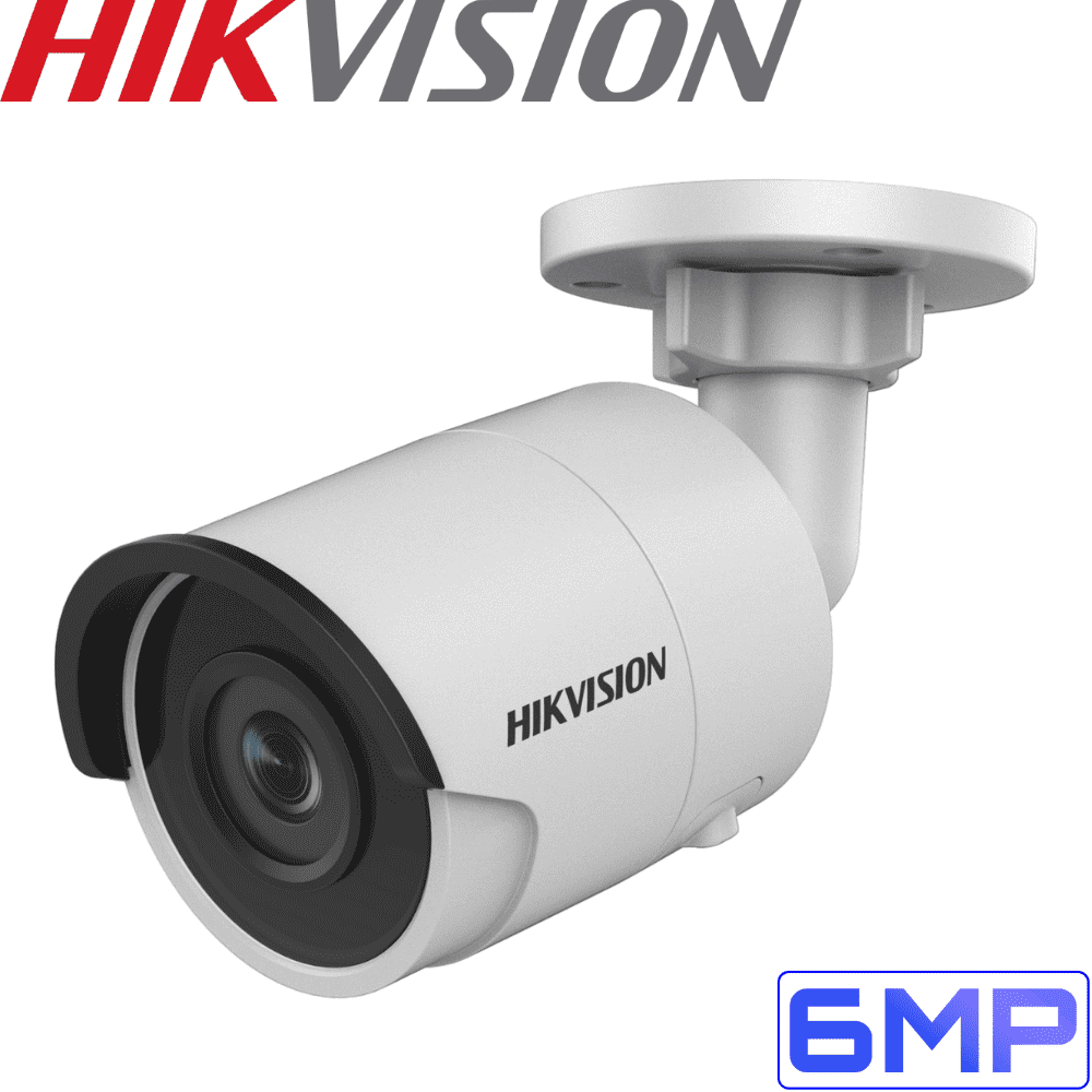 Hikvision DS-2CD2055FWD-I Security Camera: 6MP Fixed Lens Bullet, 2.8mm, IP67
