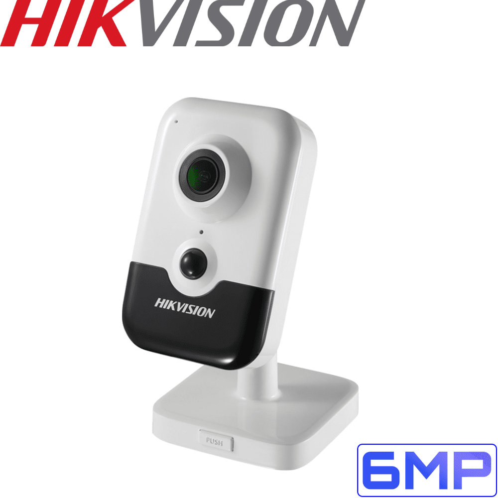 Hikvision DS-2CD2455FWD-IW Cube Security Camera: 6MP EXIR WiFi, 10m IR