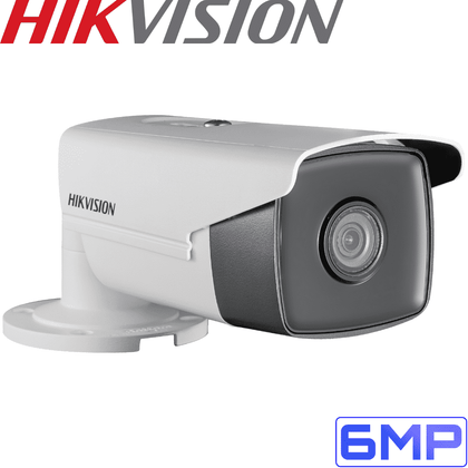 Hikvision DS-2CD2T55WDI54 Security Camera: 6MP Fixed Lens Bullet, IP67