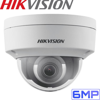 Hikvision DS-2CD2155FWD-I Security Camera: 6MP Fixed Lens Dome, IK10