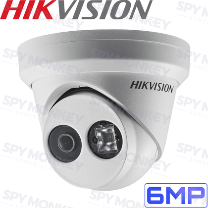 Hikvision DS-2CD2355FWD-I Security Camera: 6MP Fixed Lens Turret, IP67