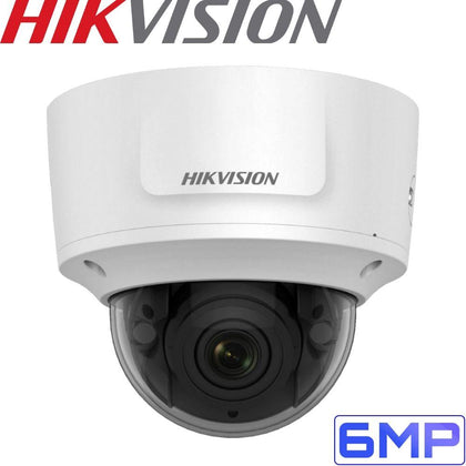 Hikvision DS-2CD2755FWD-IZS Security Camera: 6MP Motorised Varifocal Dome 2.8-12mm
