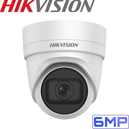Hikvision DS-2CD2H55FWD-IZS Security Camera: 6MP Motorised Varifocal Turret 2.8-12mm