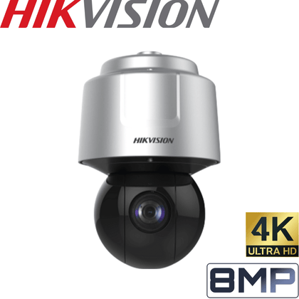 Hikvision DS-2DF6A825X-AEL Security Camera: 8MP (4K) Network Dome PTZ, 25X Zoom