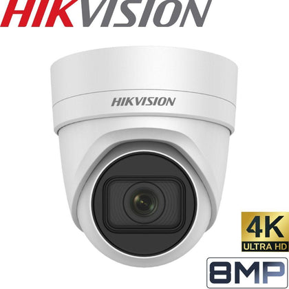 Hikvision DS-2CD2H85FWD-IZS Security Camera: 8MP (4K) Motorised Varifocal Turret 2.8-12mm
