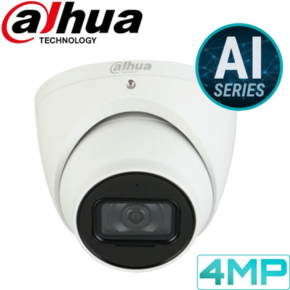 Dahua IPC-HDW5442TM-AS Security Camera: 4MP Fixed Turret, AI Series
