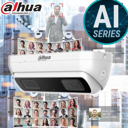 Dahua IPC-HDW8341X-3D Security Camera: 3MP Dual lens, AI People Counting, 10m IR