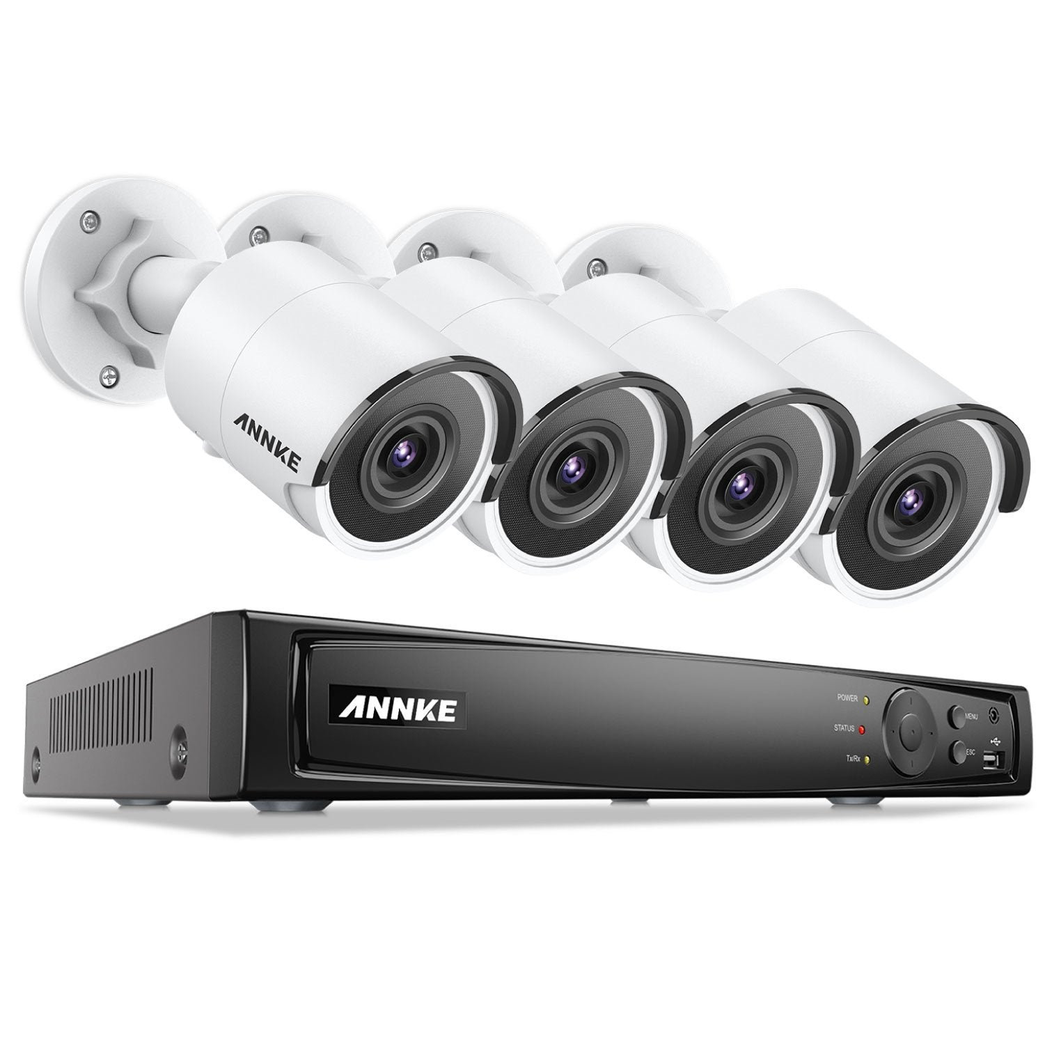 Annke 8 Channel Security Kit: 8MP NVR, 4 x 8MP(4K Ultra HD) Bullet Cameras