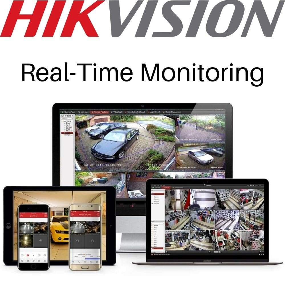Hikvision 4 Channel Security Kit: 8MP (4K) NVR, 2 X 8MP Dome Cameras, 3TB HDD