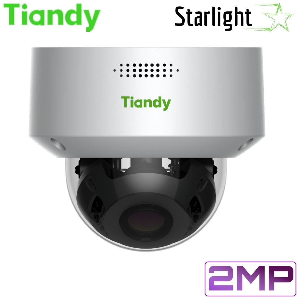 Tiandy TC-A32M4 1/A/E Security Camera: 2MP Dome, Motorized 2.8-12mm, Super Starlight, Face Recognition