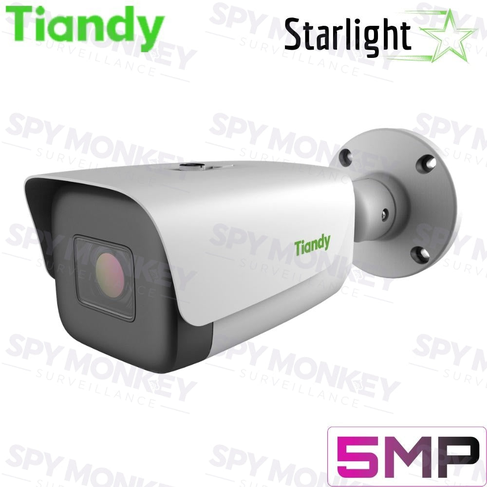 Tiandy TC-C35LS I8/E/A Security Camera: 5MP Bullet, Motorized 2.8-12mm, Starlight