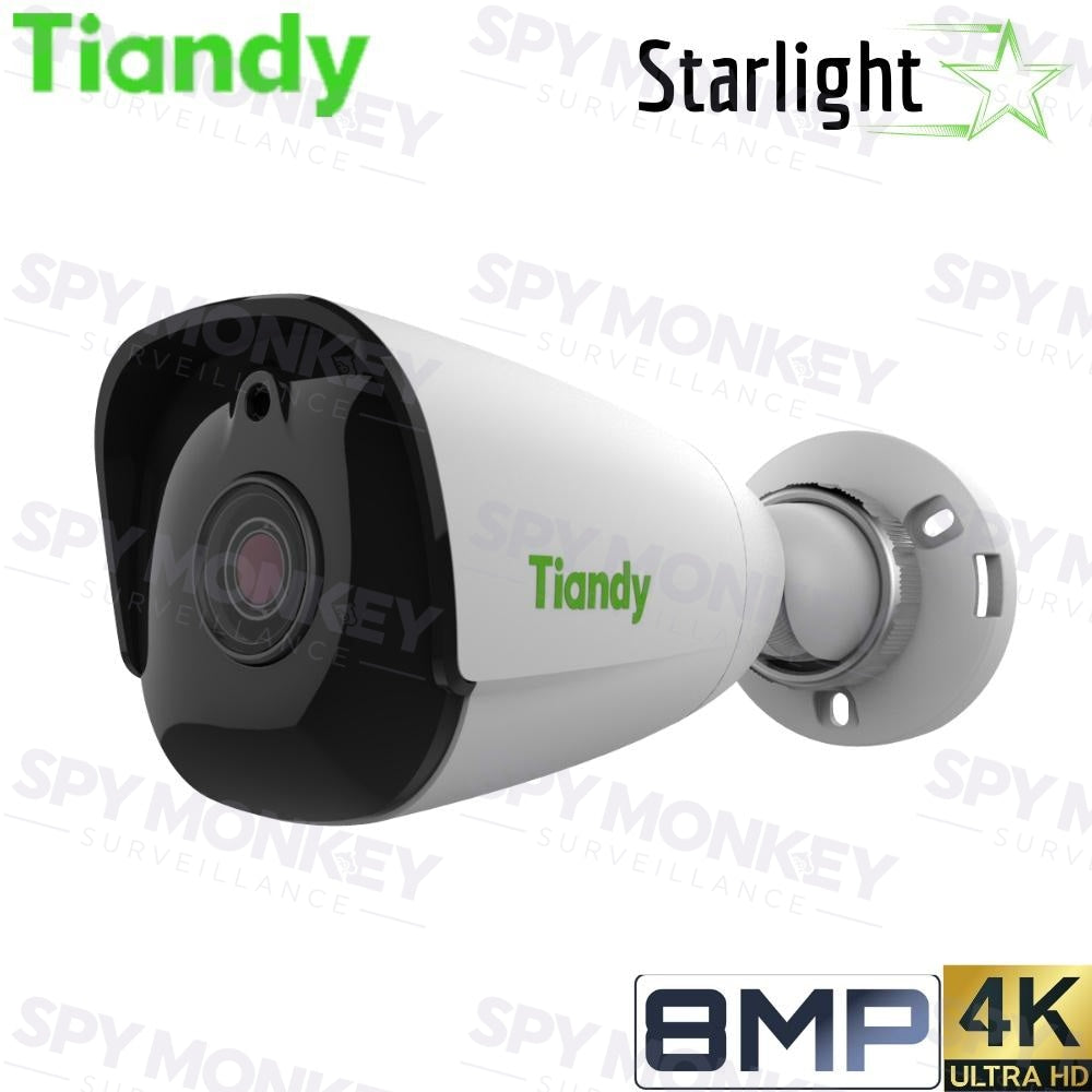 Tiandy TC-C38JS I5/E Security Camera: 8MP (4K Ultra HD) Bullet, Fixed 4mm, Starlight