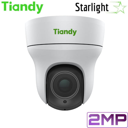 Tiandy TC-H323Q 04X/I/E Security Camera: 2MP PTZ, Motorized 2.8mm-12mm, Starlight