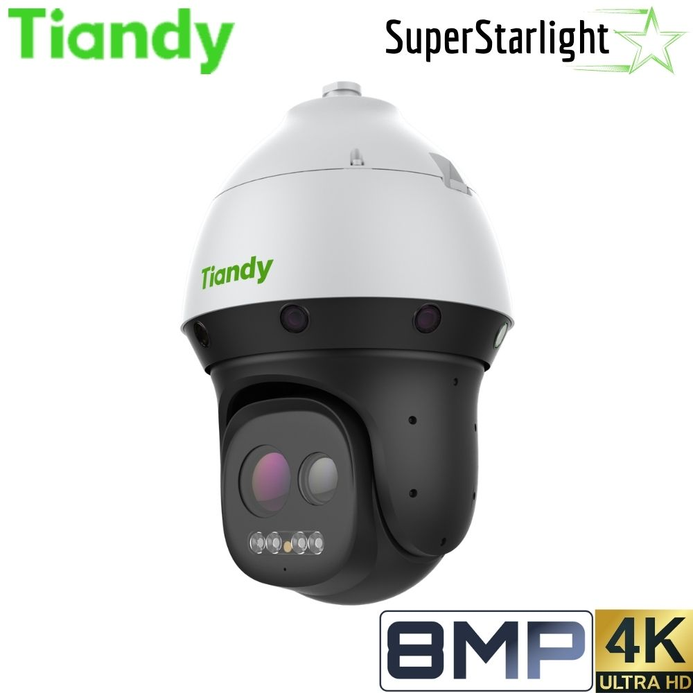 Tiandy TC-H389M 44X/LW/P/A Security Camera: 8MP (4K Ultra HD) PTZ, Motorized 6mm-264mm, Super Starlight