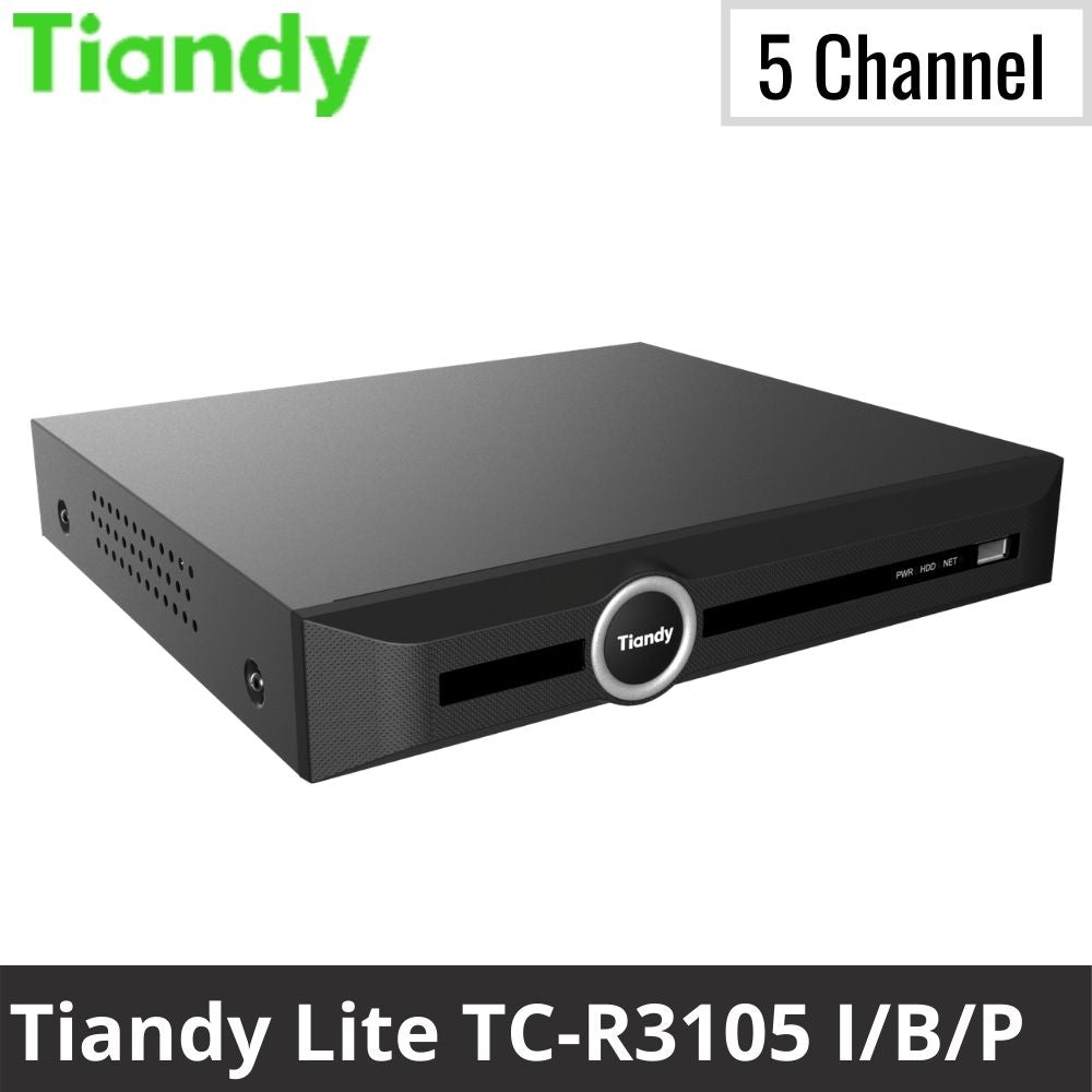 Tiandy TC-R3105 I/B/P 5-Channel Network Video Recorder: 5MP Lite Series
