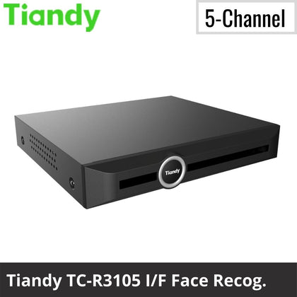 Tiandy TC-R3105 I/F 5-Channel Network Video Recorder: 6MP Facial Recognition