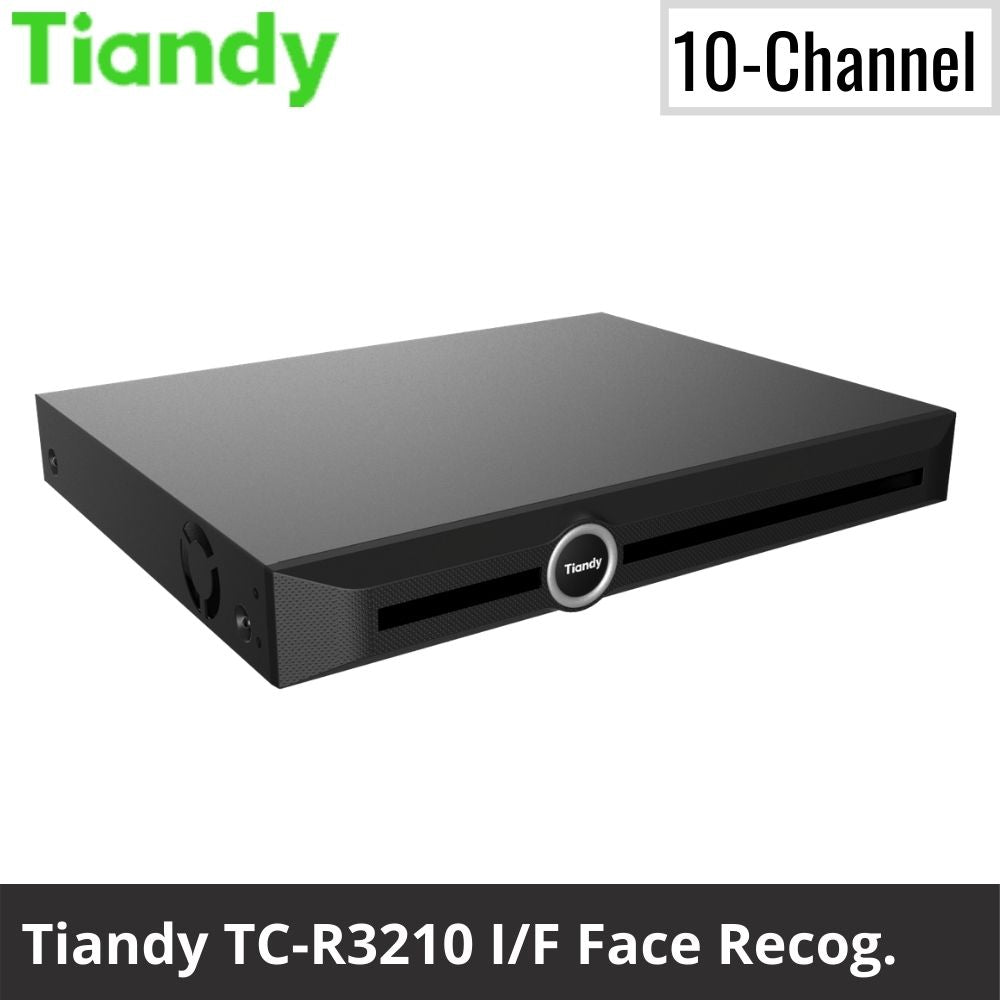 Tiandy TC-R3210 I/F 10-Channel Network Video Recorder: 6MP Facial Recognition