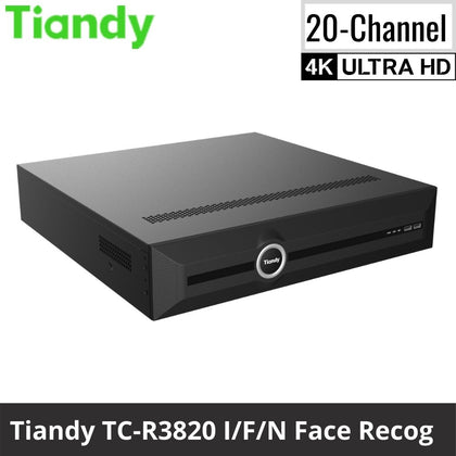 Tiandy TC-R3820 I/F/N 20-Channel Network Video Recorder: 12MP (4K Ultra HD) Facial Recognition