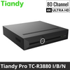Tiandy TC-R3880 I/B/N 80-Channel Network Video Recorder: 12MP Ultra HD, Pro Series, 8HDD