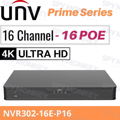 Uniview 16 Channel Network Video Recorder: 12MP Ultra HD Prime Series