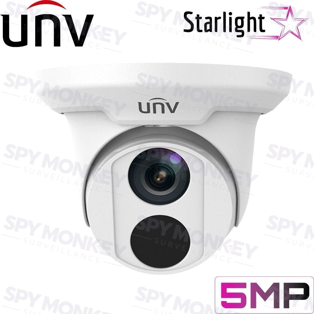Uniview IPC3615ER3-ADUPF28M Security Camera: 5MP Starlight Turret, IP67