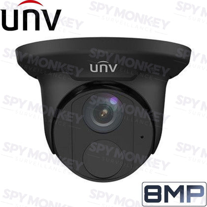 Uniview Security Camera: 8MP (4K) Turret, Black