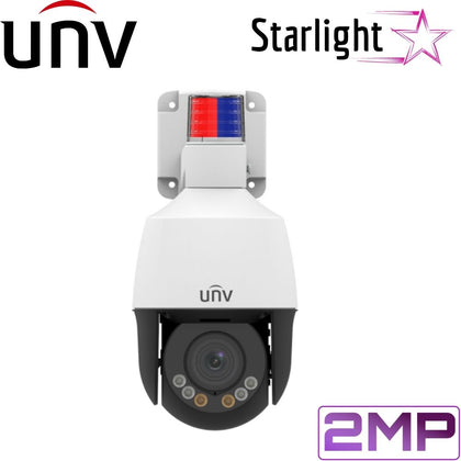 Uniview Security Camera: 2MP Full HD 4X PTZ, Active Deterrence, LightHunter