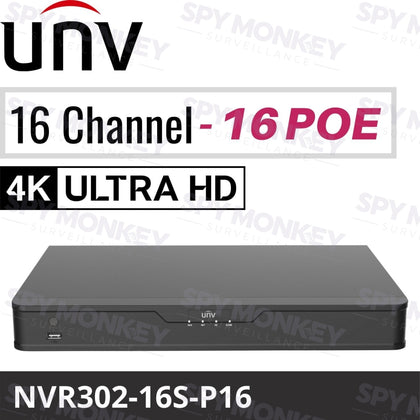 Uniview 16 Channel Network Video Recorder: 8MP (4K) Ultra HD