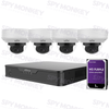 Uniview 4/8 Channel Security System: 8MP NVR, 4 x 5MP VF Dome Cameras, 1TB HDD