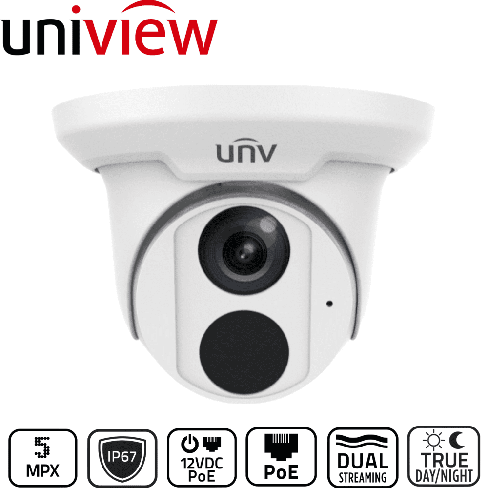 Uniview Security Camera: 5MP Starlight Turret, IP67