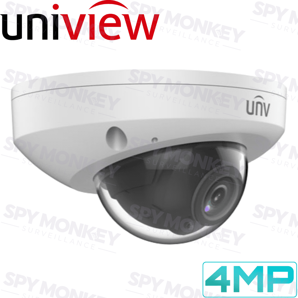Uniview Security Camera: 4MP Mini-Dome, IK10, Night Vision