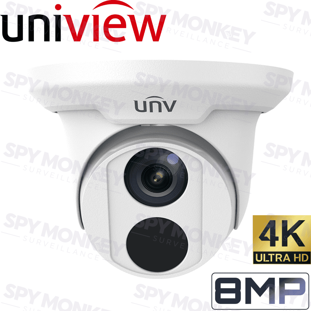 Uniview Security Camera: 8MP (4K) Turret, Face Detection, IP67