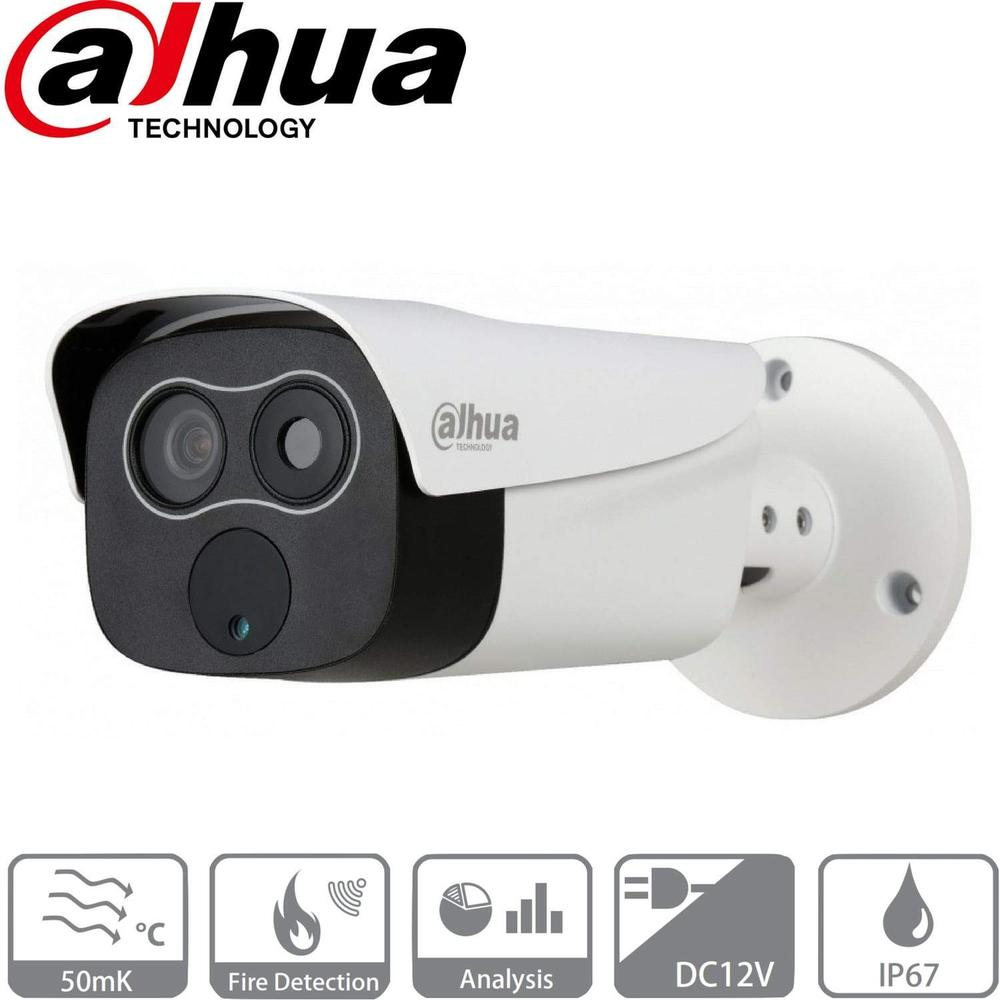 Dahua TPCBF2120  Security Camera: 2MP Thermal Mini Hybrid Bullet with Fire Detection