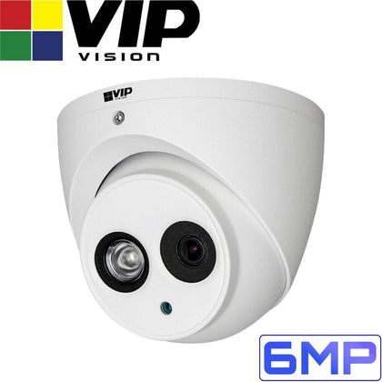 VIP Vision Professional Security Camera: 6MP Turret, 50m IR, IP67