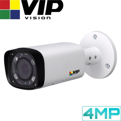 VIP Vision Pro Security Camera: 4MP Bullet, 2.7 ~ 13.5mm VF Lens