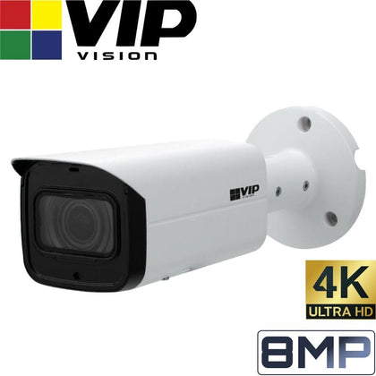 VIP Vision Pro Security Camera: 8MP (4K) Bullet, 3.7 ~ 11mm VF Lens